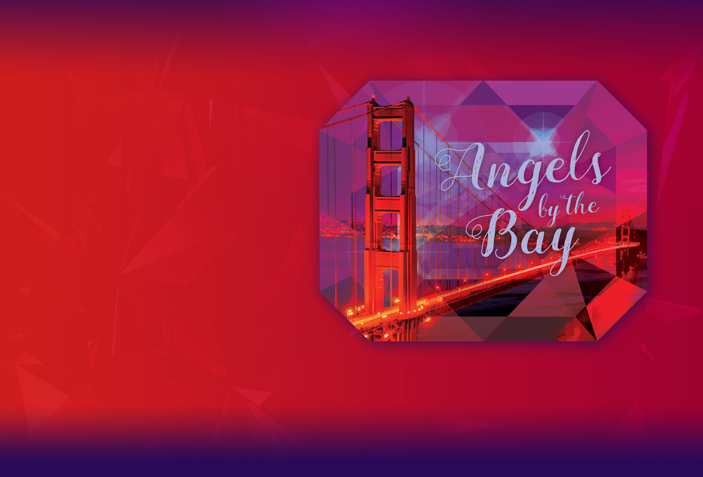 Graphic of the 2019 Angels by the Bay logo and the Golden Gate Bridge.